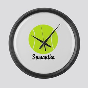 Tennis Ball Large Wall Clock