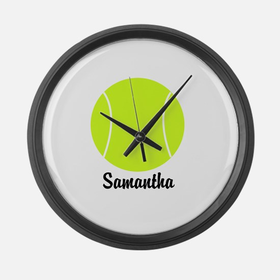 Tennis Ball Large Wall Clock