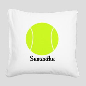 Tennis Ball Square Canvas Pillow