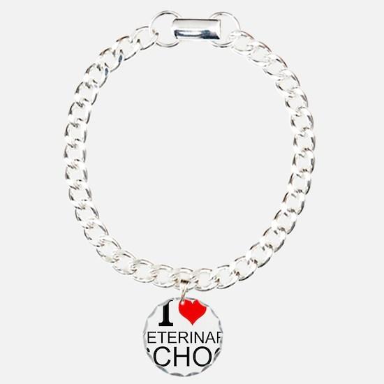 I Love Veterinary School Bracelet