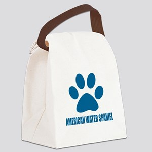 American Water Spaniel Dog Design Canvas Lunch Bag