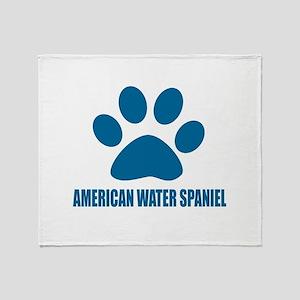 American Water Spaniel Dog Designs Throw Blanket