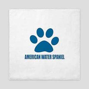 American Water Spaniel Dog Designs Queen Duvet