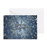 Snow Flake Card Greeting Cards