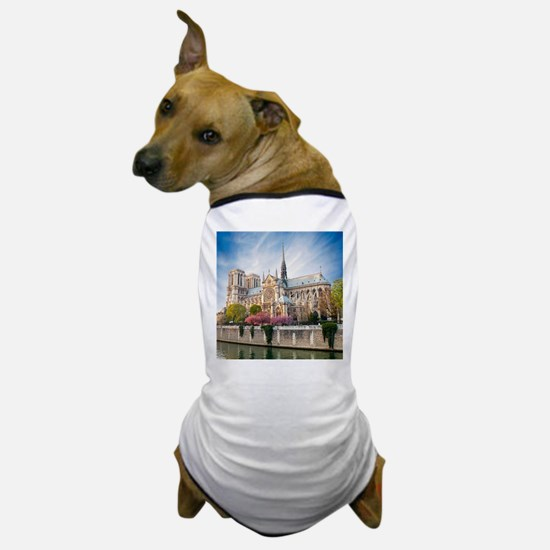 Notre Dame Cathedral Dog T-Shirt
