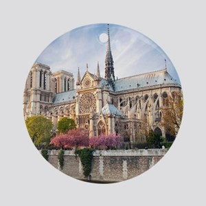 Notre Dame Cathedral Round Ornament