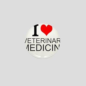 I Love Veterinary Medicine Mini Button