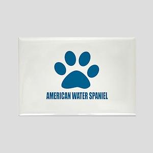 American Water Spaniel Dog Design Rectangle Magnet