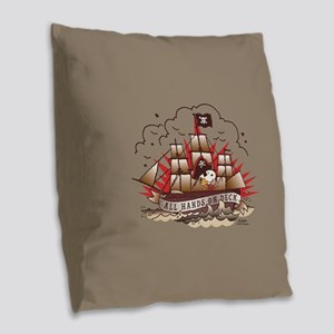 Peanuts All Hands on Deck Burlap Throw Pillow