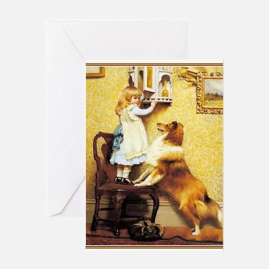 Cute English pointer dog breed Greeting Card