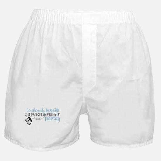 Funny Navy boyfriend Boxer Shorts