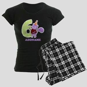 6th Birthday Personalized Na Women's Dark Pajamas