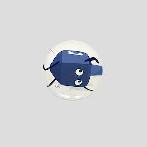 dreidel spining shadow Mini Button