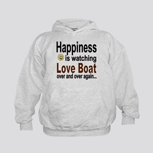 Happiness Is Watching The Love Boat Kids Hoodie