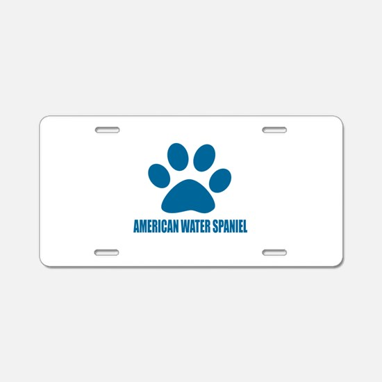 American Water Spaniel Dog Aluminum License Plate