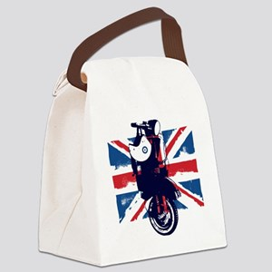 Union Jack Scooter Canvas Lunch Bag