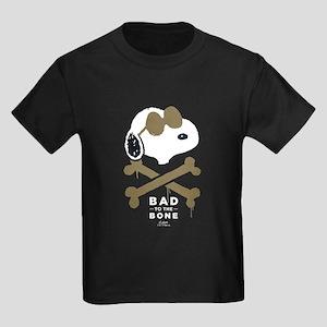 Peanuts Bad to the Bone Kids Dark T-Shirt