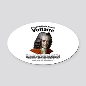 Voltaire Equality Oval Car Magnet