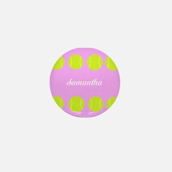 Pink Tennis Ball Mini Button