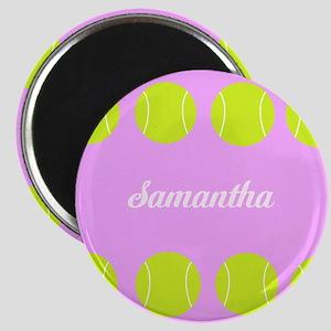 Pink Tennis Ball Magnets