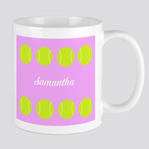 Pink Tennis Ball Mugs