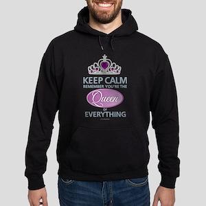 Keep Calm - Queen Hoodie (dark)