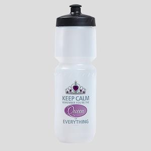 Keep Calm - Queen Sports Bottle