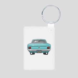 1964 Mustang Aluminum Photo Keychain