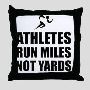 Athletes Run Miles Throw Pillow