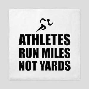 Athletes Run Miles Queen Duvet