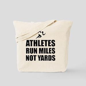 Athletes Run Miles Tote Bag