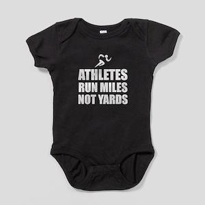 Athletes Run Miles Baby Bodysuit