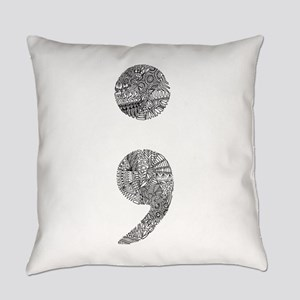 Patterned Semicolon #2 Everyday Pillow