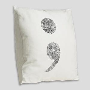 Patterned Semicolon #2 Burlap Throw Pillow