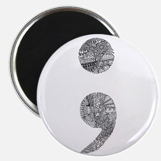 Patterned Semicolon #2 Magnets