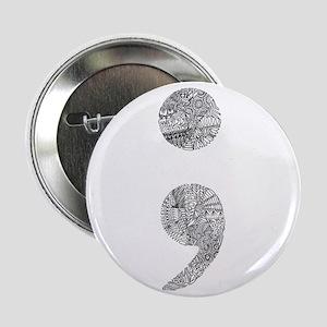 """Patterned Semicolon #2 2.25"""" Button"""