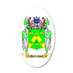 McCribben 35x21 Oval Wall Decal