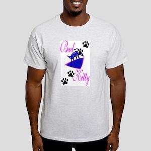 Bad Kitty Ash Grey T-Shirt