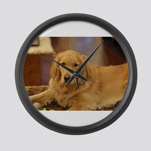 Nala the golden inside Large Wall Clock