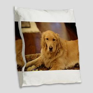 Nala the golden inside Burlap Throw Pillow