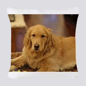 Nala the golden inside Woven Throw Pillow