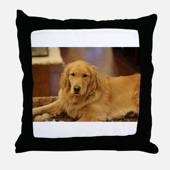 Nala the golden inside Throw Pillow