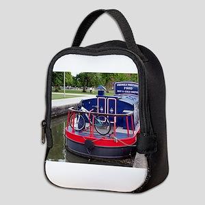 Baguette Barge,Stratford, Engla Neoprene Lunch Bag