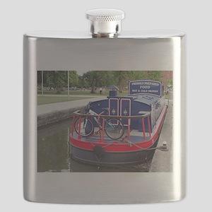 Baguette Barge,Stratford, England Flask