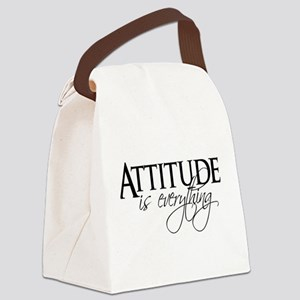 Attitude is everything Canvas Lunch Bag