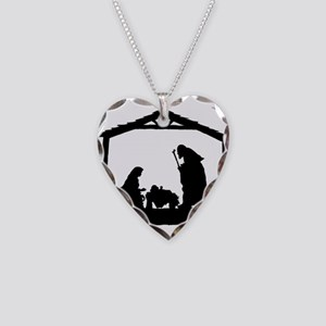 Nativity Necklace Heart Charm