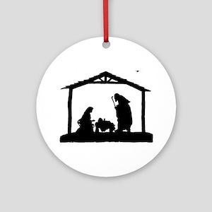Nativity Round Ornament