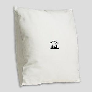 Nativity Burlap Throw Pillow