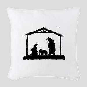 Nativity Woven Throw Pillow