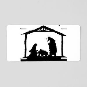 Nativity Aluminum License Plate